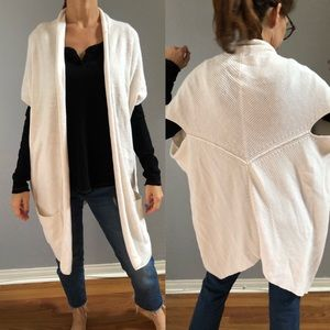 Athleta Knit Oversized Open Cardigan Ivory S/M